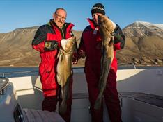 In the late summer and autumn, the waters off Longyearbyen are abounding with cod so the chances are high that you will catch fish and take great photos.