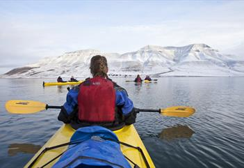 Kayak adventure on Adventfjorden - Svalbard Wildlife Expeditions