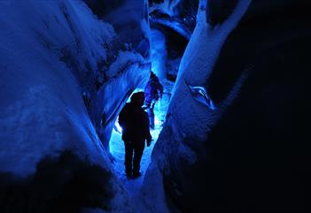 The Frozen Challenge: Explore the ice cave with climbing gear