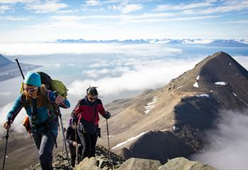 The Arctic Challenge: Kayak and hiking to the summit of Hiorthfjellet - Svalbard Wildlife Expeditions