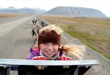 Dogpulled wagon, 4 hours - Green Dog Svalbard